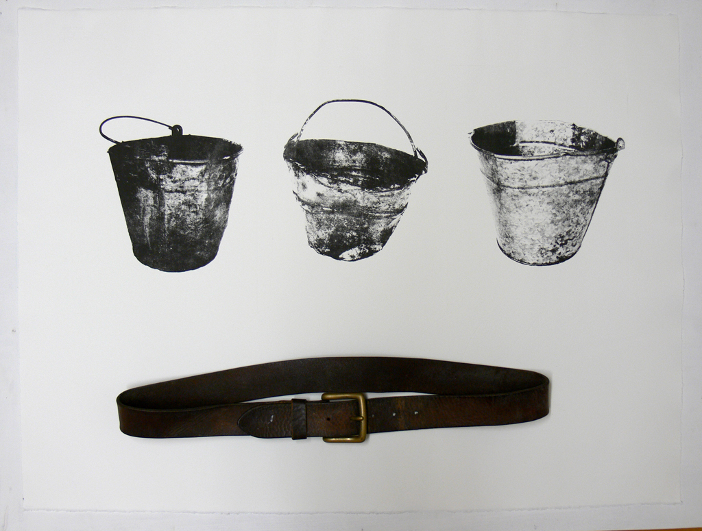 Galvanized Bucket triptych (belt)