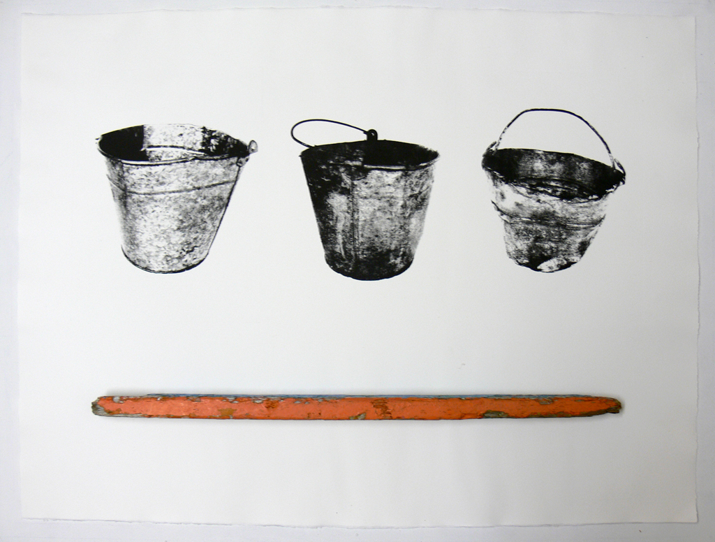 Galvanized Bucket triptych (stick)